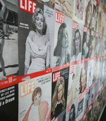 "Specialty Wall Decor Utilizing Actual ""LIFE"" Magazine Covers"